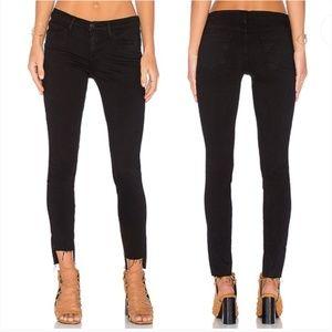 FRAME Le Skinny de Jeanne Raw Stagger-Hem Jeans 27